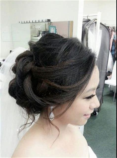 asian wedding updo   engagement & bridal hairstyles