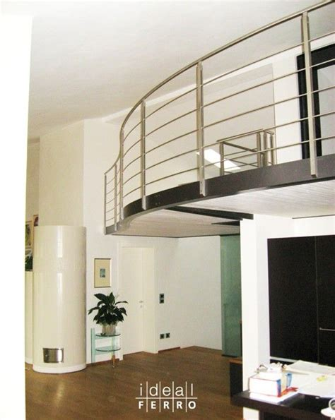 ringhiera per soppalco soppalco con ringhiera in acciaio inox soppalco loft