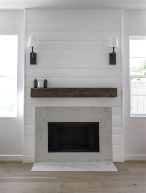 quartz shiplap shiplap fireplace with quartz by studio matsalla