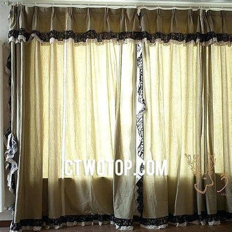 Black Lace Window Valance Burlap Curtains Canada Curtain Menzilperde Net