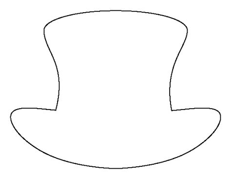 hat template printable top hat pattern use the printable outline for crafts