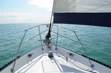 lancer 40 bow miami sailing private sailboat charters - Sailboat Bow