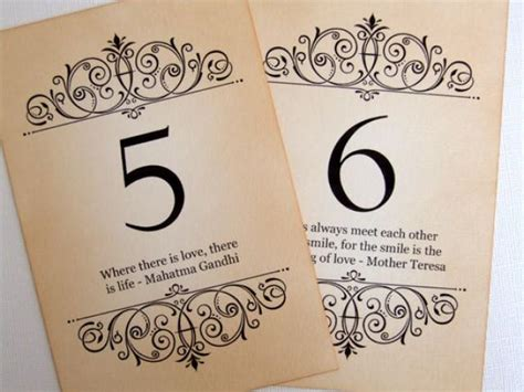 Wedding Wine Box Quotes by Quote Wedding Table Numbers Vintage Quotes Table