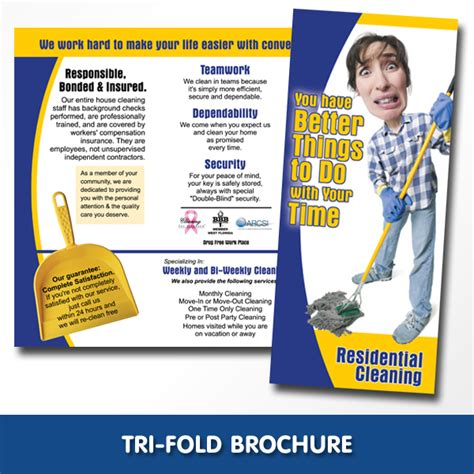 cleaning service brochure templates 8 best images of cleaning company brochure templates