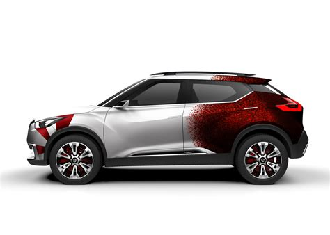 nissan kicks red nissan kicks concept revealed in a new livery in brazil