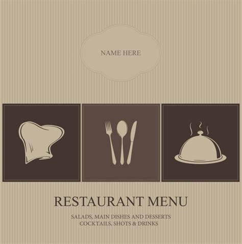 menu design eps file restaurant menu cover vector free vector in encapsulated