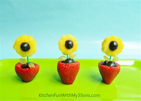 fruit flower kitchen fun with my 3 sons fruit flower snack for mother