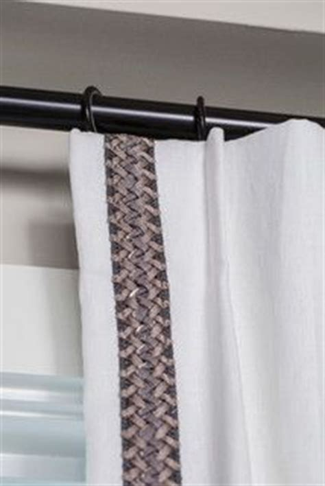 white curtains with brown trim add trim to existing drapes window treatments pinterest