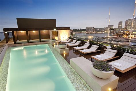luxury hotel spa with opera house views sunset pools sydney