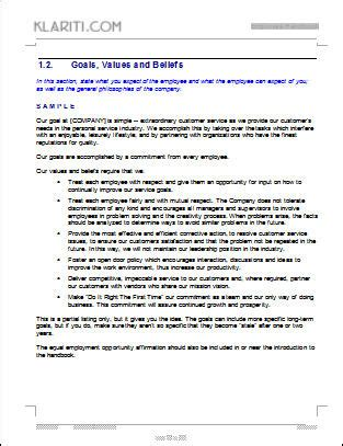 staff policy template best photos of policy employee handbook template sle