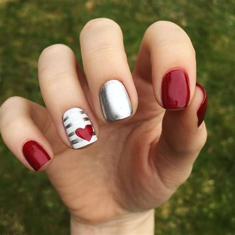 valentine nails ideas  pinterest valentine