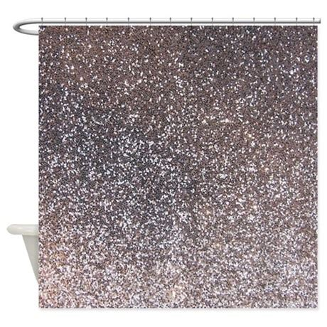 Silver Glitter Curtains Faux Silver Glitter Texture Shower Curtain Matte By