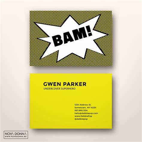 comic book business card template comic business card templates business card