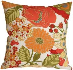 Flowered Pillows - sadie pottery barn floral outdoor throw pillow from pillow