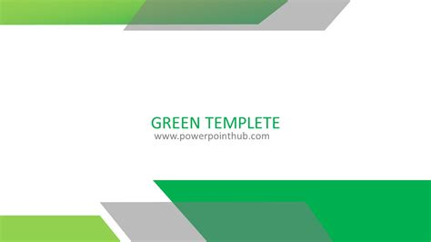 Free Powerpoint Template Green Template Powerpoint Hub Template Powerpoint