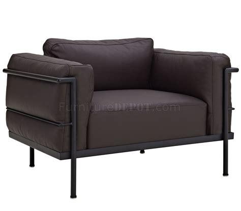 dark brown leather armchair charles grande armchair in dark brown leather by modway