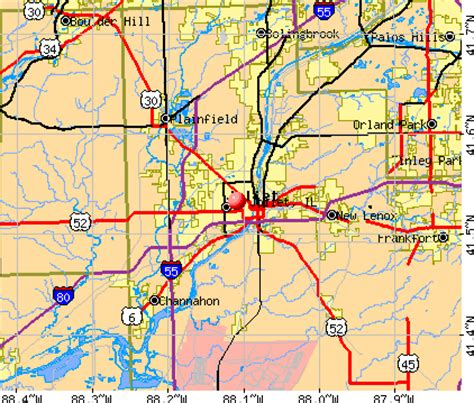 map of joliet il joliet chicago map