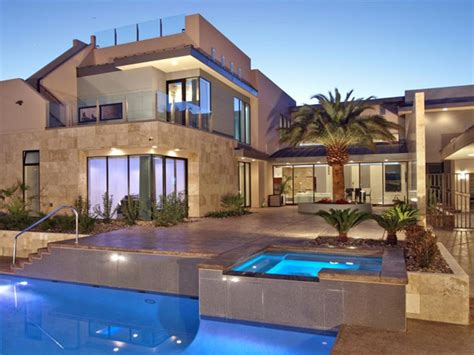 luxury architecture with clean interior design in las