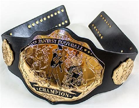 fantasy football championship ring, trophy, title belt
