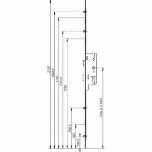 serrure 224 larder 4 points axe 40 mm t 234 ti 232 re 16 mm gu