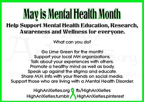 mental health awareness month color mental health awareness