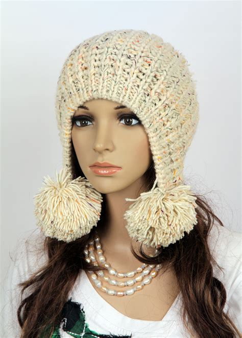 Handmade Knit Hats - slouchy handmade knitted hat clothing cap on luulla