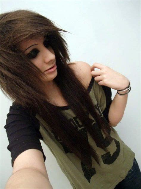 emo hairstyles for long hair girls layered emo hairstyle for girls with long hair styles weekly