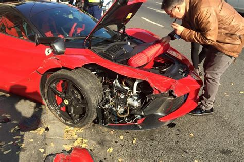 ferrari laferrari crash ferrari laferrari crash in hungary is painful to watch