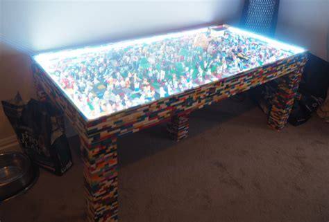 Handmade Table - decorate your living room like a kid with handmade lego