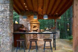 Belly up to the outdoor bar rustic patio other by