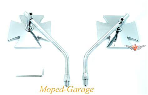 Motorrad Spiegel Chopper by Moped Garage Net Motorrad Chopper Iron Cross Spiegel Set