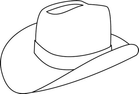 coloring page of cowboy hat cowboy hat coloring page barriee clipart best
