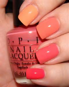 coral color nails neon coral nail opi images