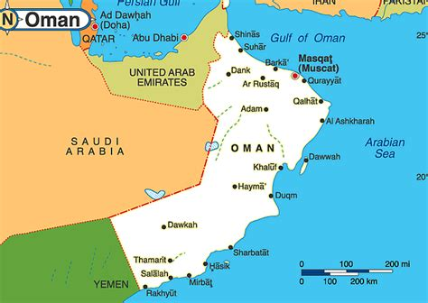 oman on map oman maps map tourist attractions location map of oman muscat