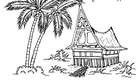 gambar rumah adat gampang digambar rumah adat indonesia