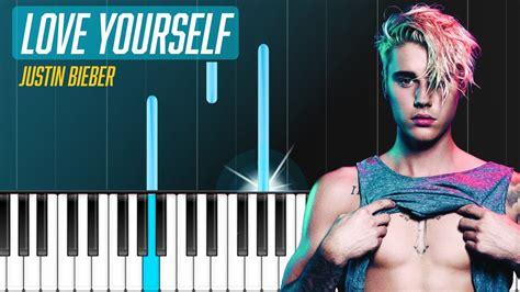 tutorial piano love yourself justin bieber love yourself piano tutorial chords