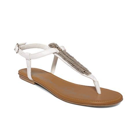 white sandals flat american rag sari flat sandals in white lyst