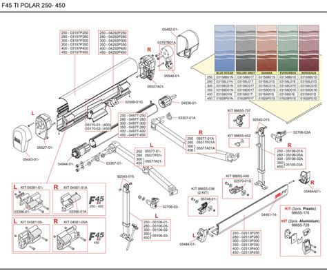 spare parts diagram fiamma f45 ti polar white 190 450