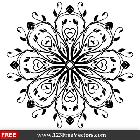 Karpet Mobil Fanta Logo Putih flourish vector ornament design by 123freevectors on