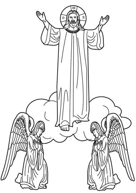 coloring pages jesus going to heaven 為孩子們的著色頁 ascension into heaven coloring pages