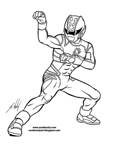 megaforce mask coloring pages