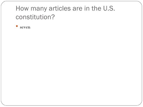 how many sections are in the constitution the constitution