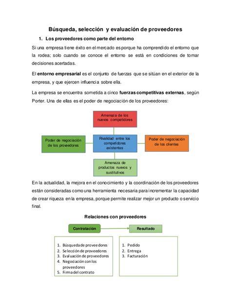 buscador de proveedores criterios de seleccion evaluacion y reevaluacion de