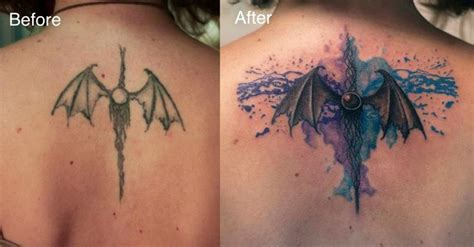 watercolor tattoo after 5 years 14 best images about cover ups on posts