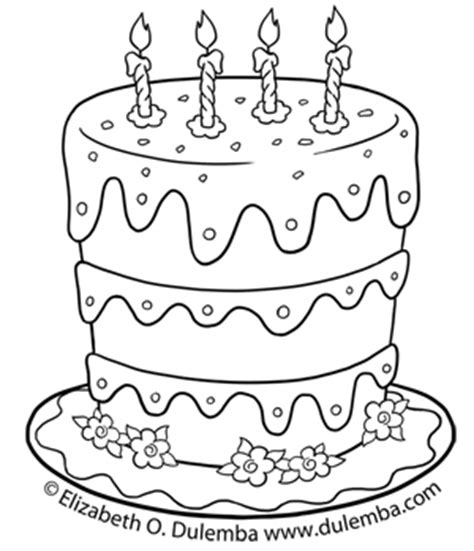 birthday coloring pages for 4 year olds dulemba coloring page tuesdays birthday cake for 5th