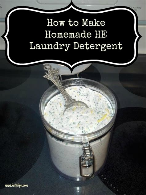 1 Simple Thing How To Make Homemade He Laundry Detergent How To Make A Laundry