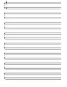 Printable Blank Sheet by 5 Best Images Of Free Printable Staff Paper Blank Sheet