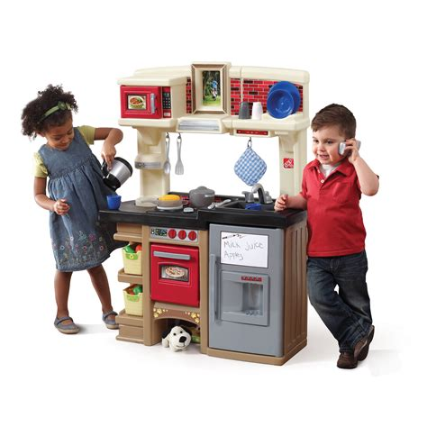 step 2 play lifestyle deluxe kitchen kids play kitchen step2