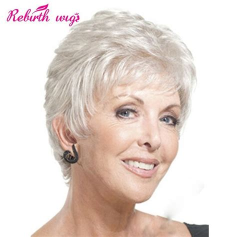 short hair wigs for older women find more synthetic wigs information about fashion