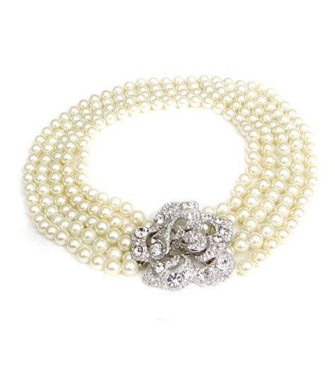 Faux Pearl Necklace chanel pearls by kenneth